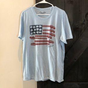 Fender short sleeve tee shirt size Large